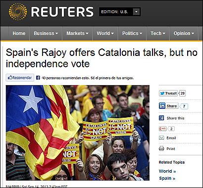 El artículo de Reuters