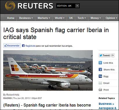 El articulo de Reuters