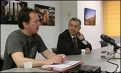 Paulino Rivero, con Hans Kellner, presidente del Círculo