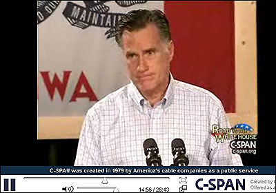 Video de Romney en el mitin de Iowa