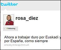 El twitter de Rosa Diez