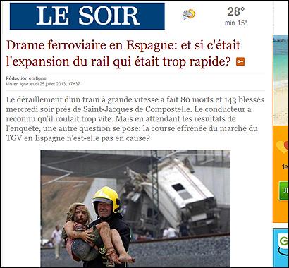 El artículo de Le Soir