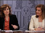 Soraya Saenz de Santamaría y Fátima Bañez