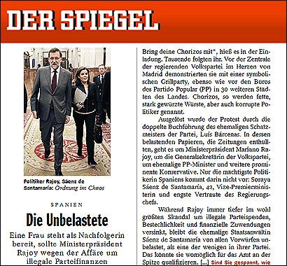 El artículo de Der Spiegel