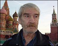 Stanislav Petrov en la Plaza Roja de Moscu