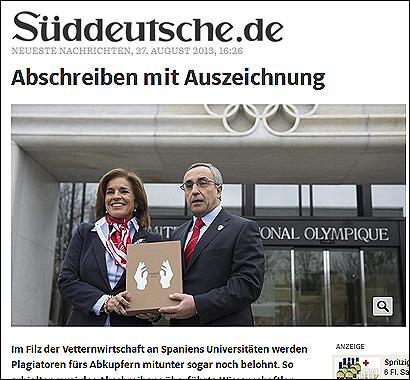 El artículod el Suddeutsche Zeting
