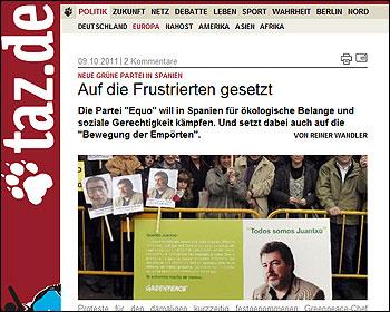 Equo en Diez Tageszeitung