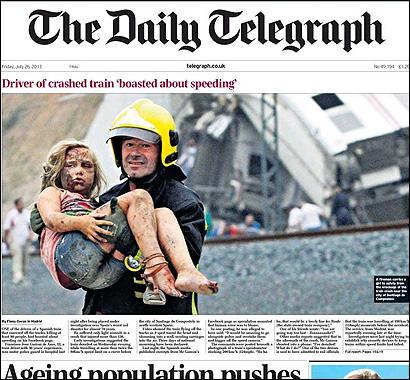 Portada del Telegraph