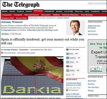 El artículo de Warner en el Telegraph