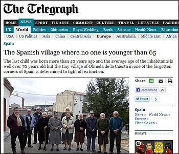 El articulo sobre Olmedo de la Cuesta en The Telegraph