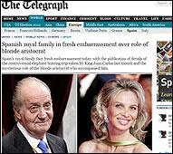 Articulo en el Daily Telegraph sobre el Rey y Corinna
