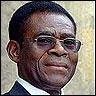El actual presidente-dictador de Guinea Teodoro Obiang