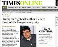 La noticia de The Times sobre el blogger