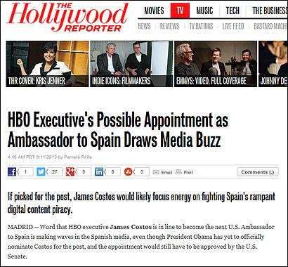 El artículo de The Hollywood Repopter