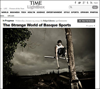 El reportaje de Time sobre los deportes vascos
