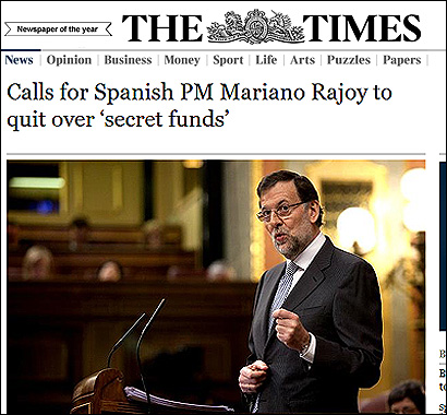 La noticia de The Times