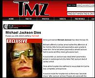 La muerte de Michael Jackson en TMZ