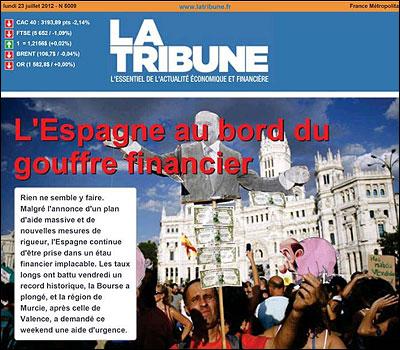 Portada de La Tribune