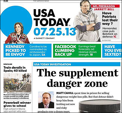 Portada del USA Today