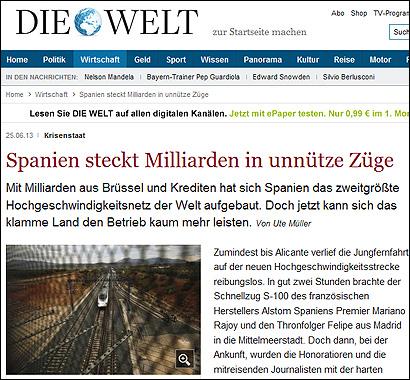 El artículo de Die Welt