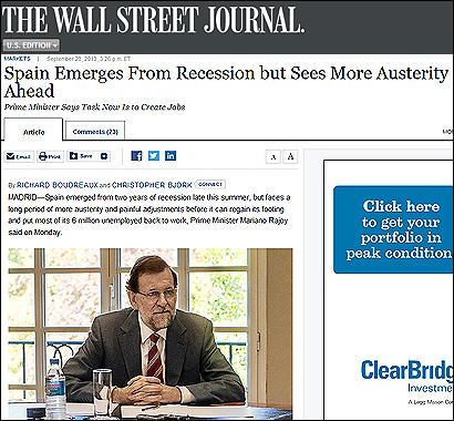 La entrevista a Rajoy en el WSJ