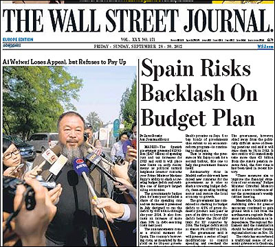 Portada del Wall Street Journal