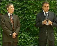 Zapatero y Bill Gates