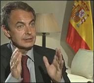 Zapatero en la entrevista del FT