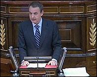 Zapatero en su discurso inicial de investidura