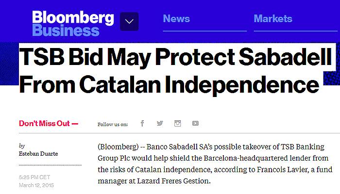 Comprar el tsb podr a proteger al sabadell de la for Sucursales banco santander barcelona