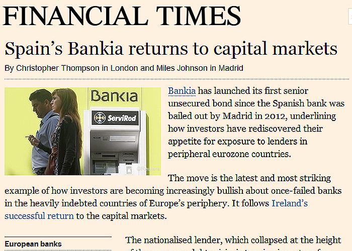 Bankia vuelve a los mercados de capitales resalta for Bankia oficina por internet