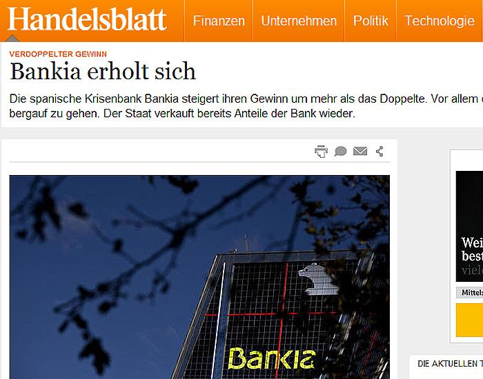 Un diario aleman destaca la exitosa cura radical para for Bankia oficina por internet