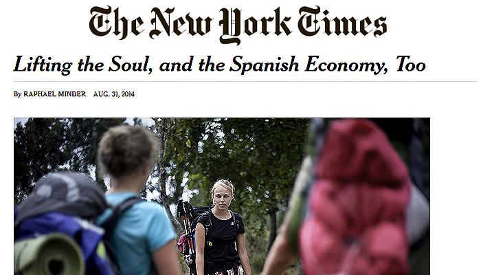 New york times destaca el boom del camino de santiago y su for New york alloggio economico